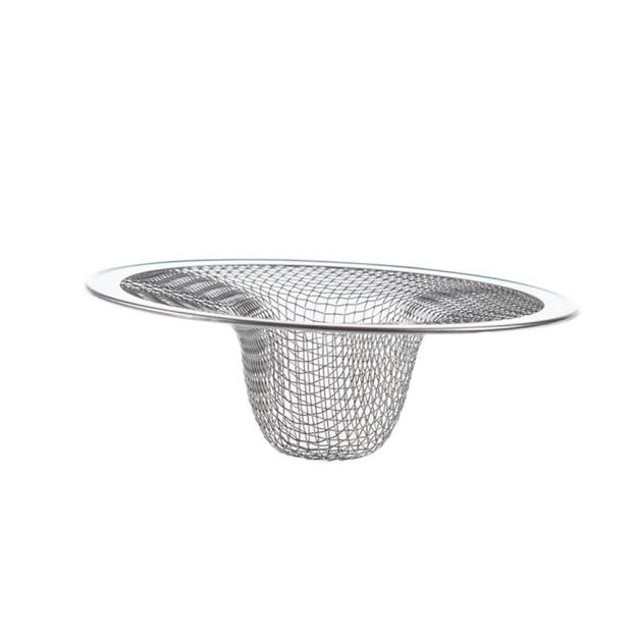 2pcs Home Kitchen Sink Drain Strainer Stainless Steel Mesh Basket Strainer