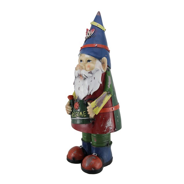 Herb The Garden Gnome Holding Watering Can Statue Outdoor Statues