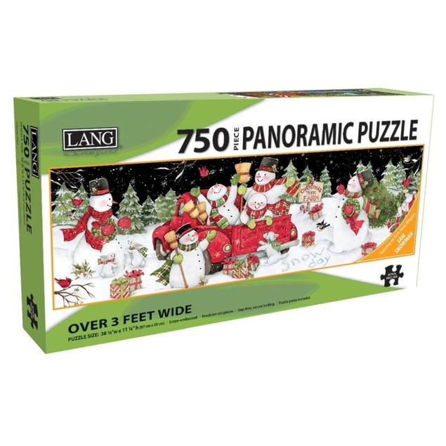 Snow Day 750 Piece Panoramic Puzzle, 750 Piece Puzzle by Lang Companies