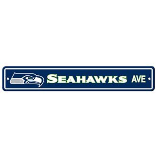 "Seattle Seahawks Ave Street Sign 4""x24"""