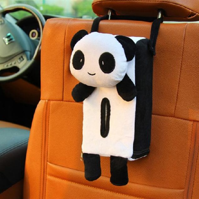 Portable Hanging Car Rectangle Animal Tissue Box Cover Holder Storage