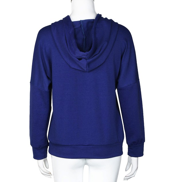 New Women Long sleeve Hoodie Sweatshirt Jumper Sweater Pullover Tops Coat