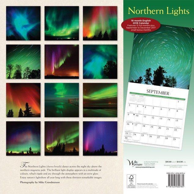 Northern Lights Wall Calendar, Nature by Calendars