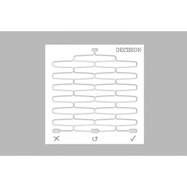 Wall Hanging Decision Board Creative Decision Tool Decision Helper - White