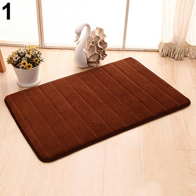 Anti-Skid Vertical Striped Soft Thick Carpeted Floor Mat