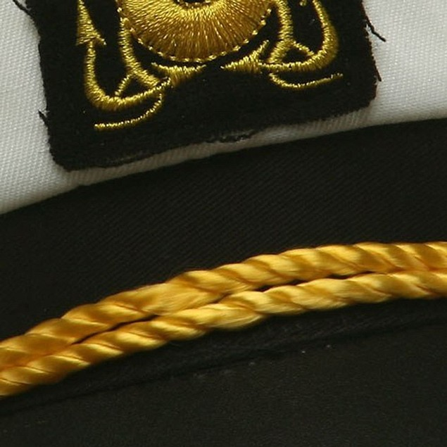 White Yacht Captain Hat