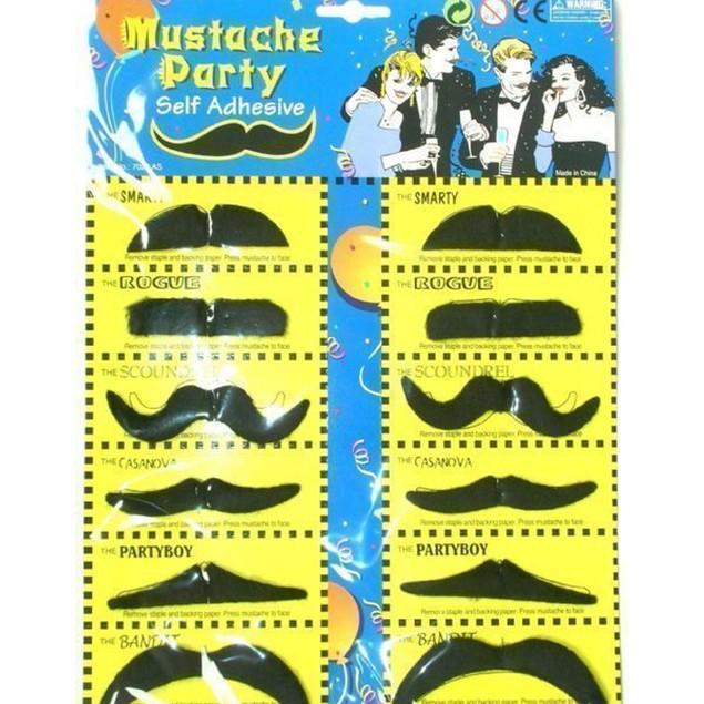 12 Self Adhesive Fake Mustaches