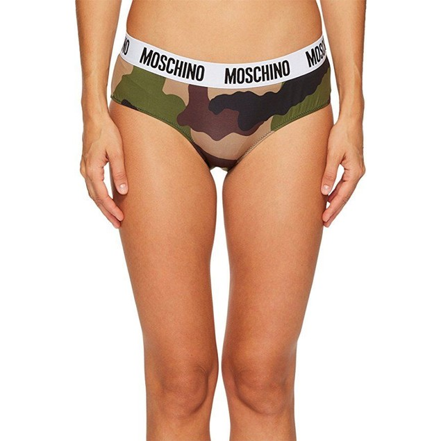 MOSCHINO Women's Microfiber Fashion Culotte Camouflage 4