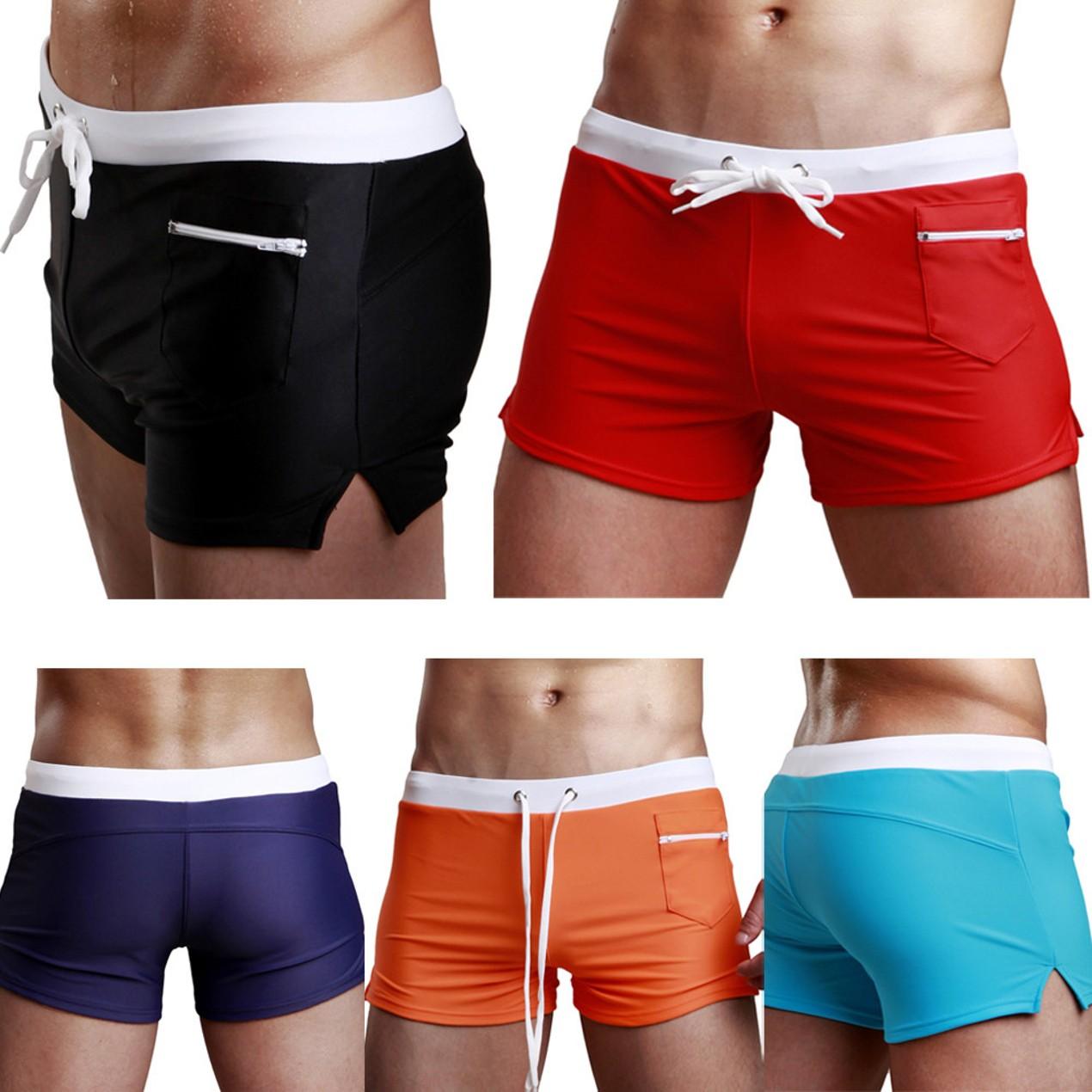 e14c668652 Swimsuit Fashion Swimming Trunks Briefs Beach Shorts Mens Underpant ...