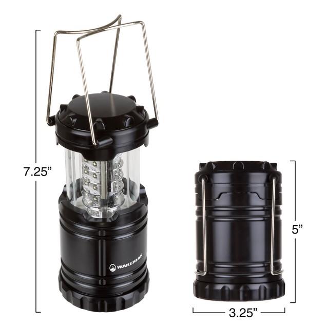 Wakeman 30 LED 300 Lumen Lantern - Black