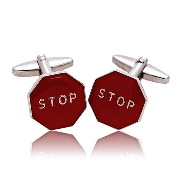 Stop Sign Cufflinks