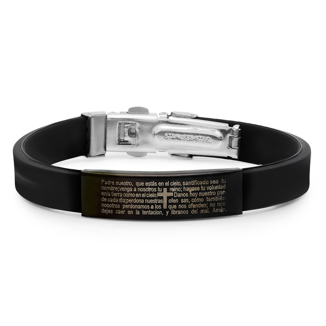 Rubber Bracelet Lords Prayer-Spanish
