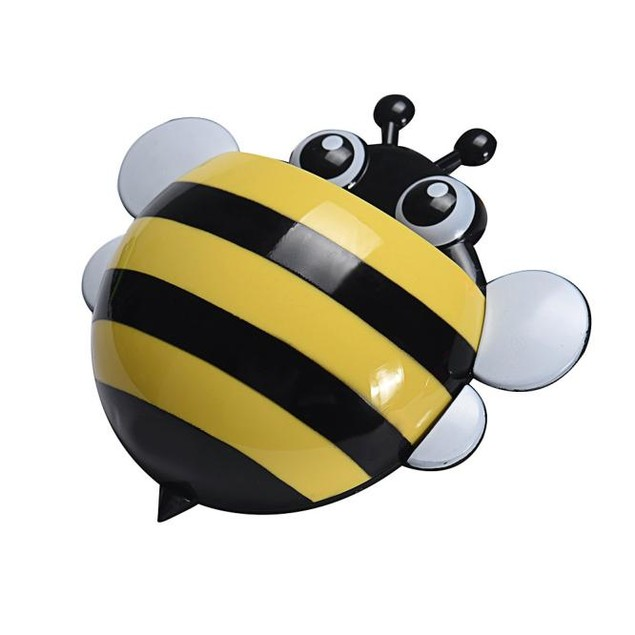 Creative Cute Bee Powerful Suction Toothbrush Holder Toothpaste