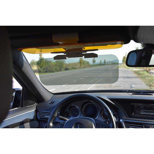 Premium Polarized Anti-Glare Car Visor - Wide Sun Coverage & Shade
