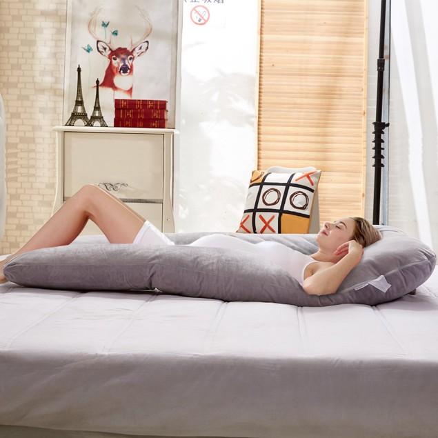 VECELO Full Body Pregnancy Pillow Maternity Pillow U-Shaped/C-Shipped