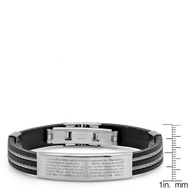 Our Father Prayer Bracelet W/ Wire Inlay