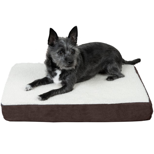 FurHaven Faux Sheepskin & Suede Deluxe Orthopedic Pet Bed