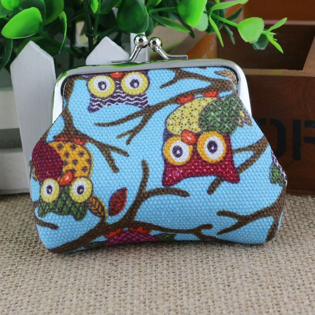 Fashion Lovely Style Lady Small Wallet Hasp Owl Purse Clutch Bag