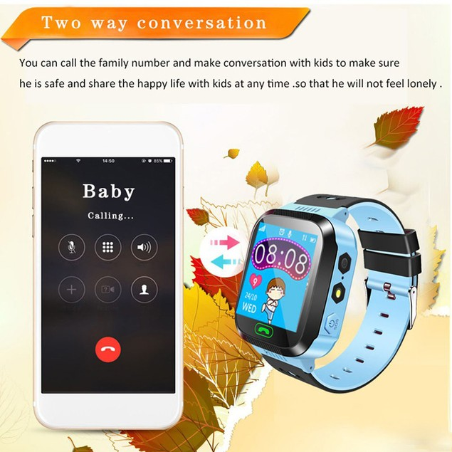 Phone Smart Watch Waterproof SOS Anti Lost Tracker Wristwatch