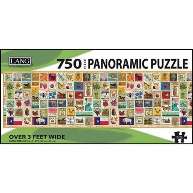Stamp Collection 750 Piece Panoramic Puzzle, 750 Piece Puzzle by Lang Compa