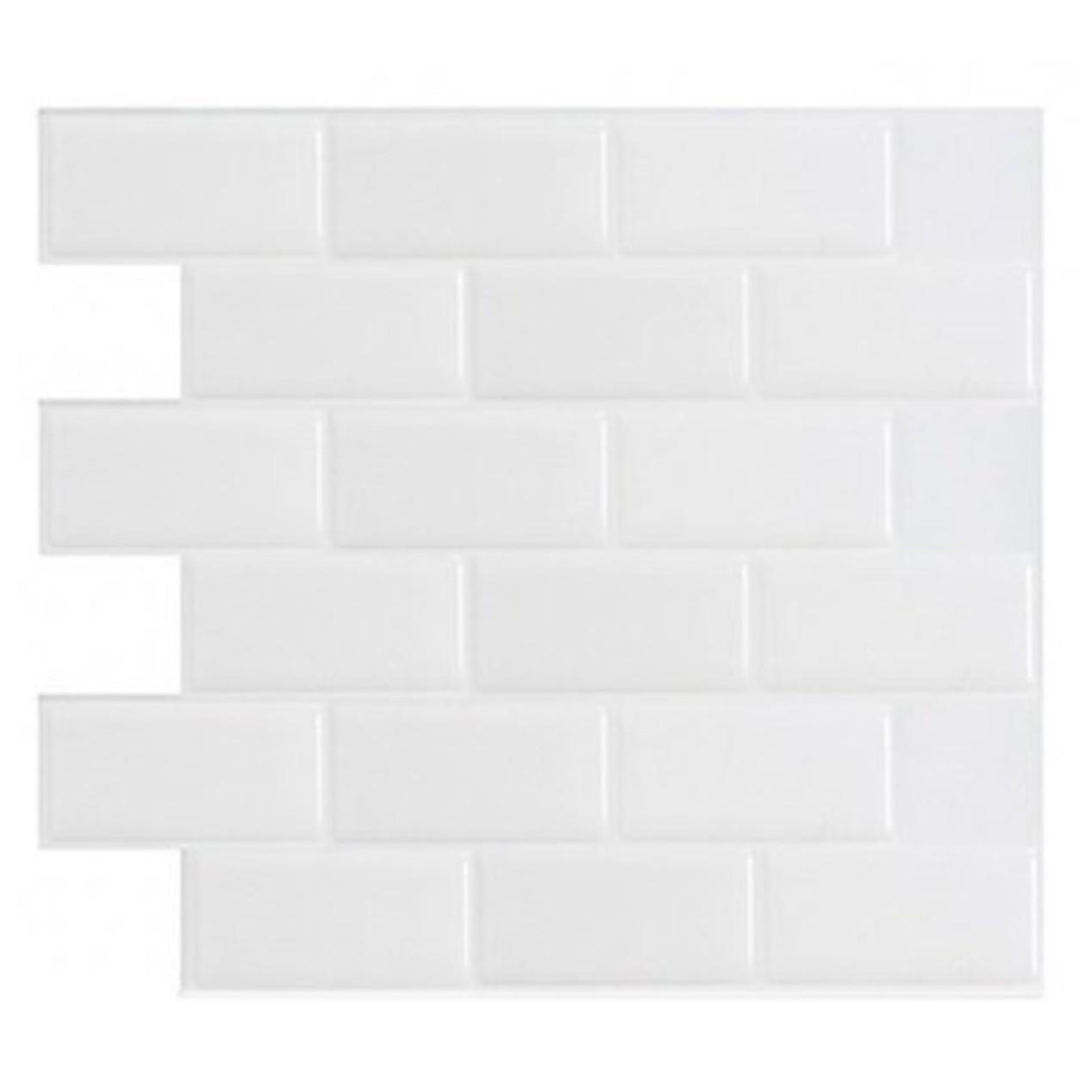 Art3d 12 X 12 Self Adhesive Backsplash Subway Tiles White 10