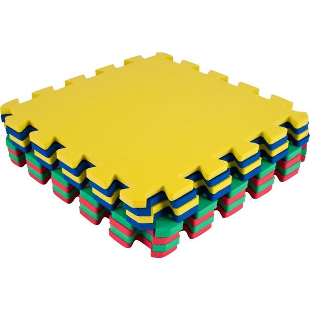 Stalwart 8 Piece Multi-Color Interlocking EVA Foam Mat  24.5 x 48 in.