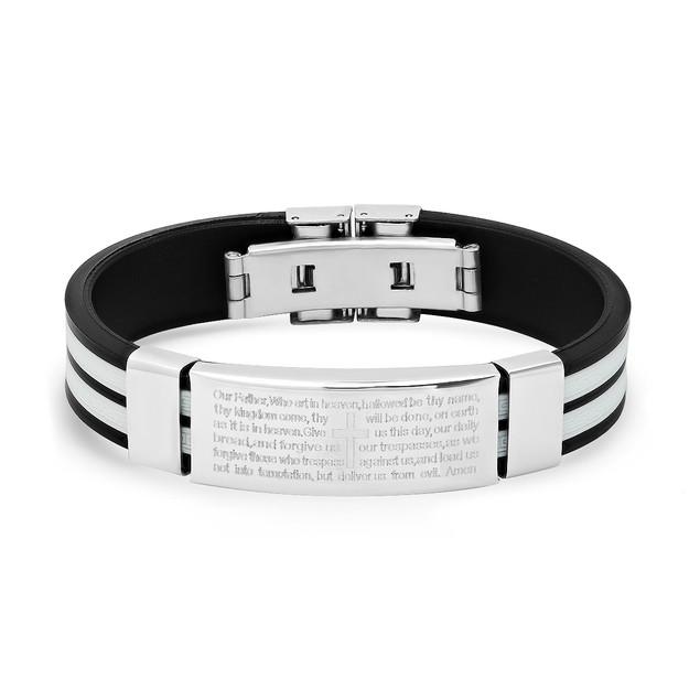 Greek Design Our Father Bracelet