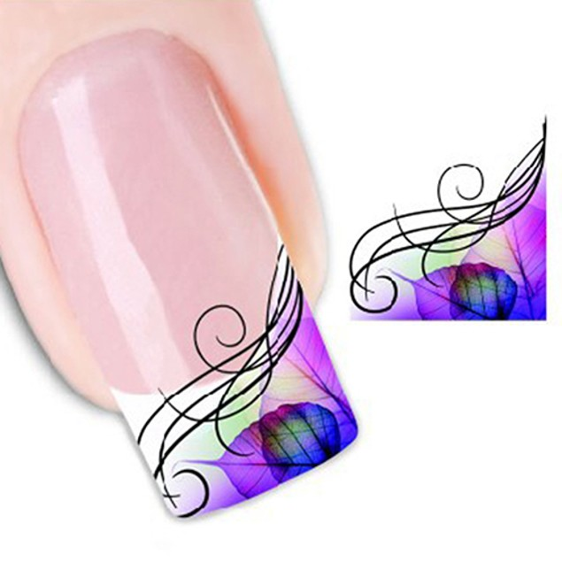 Nail Art Decal Half Wrap Water Transfer Stickers