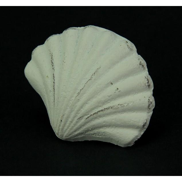 Set Of 12 Distressed Finish Coastal White Cast Drawer Pulls