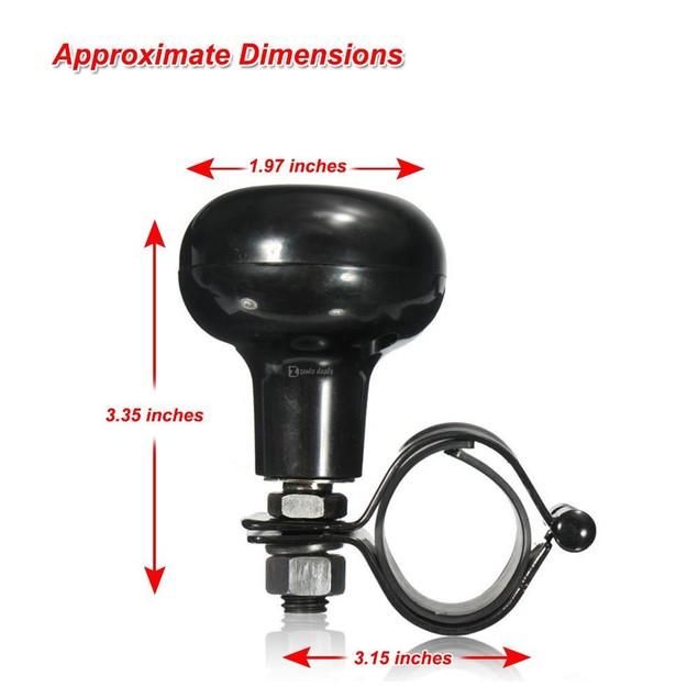 Zento Deals Black Vehicle Steering Wheel Spinner Suicide Knob Power Handles