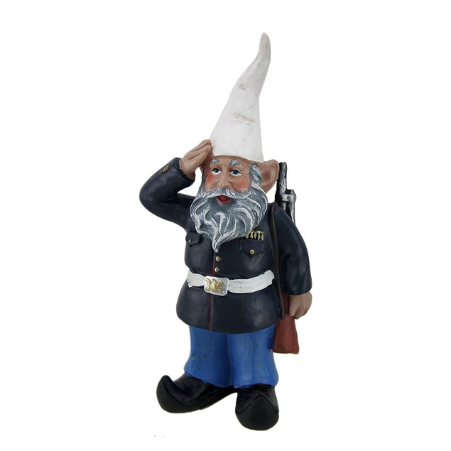 G.I. George Saluting U.S. Marine Military Gnome Outdoor Statues