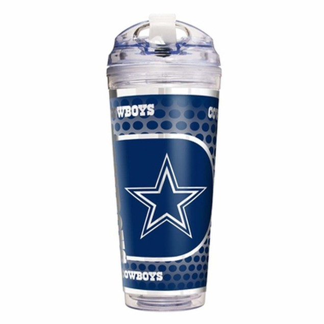 Dallas Cowboys 24 oz Acrylic Tumbler With Straw Gift Travel Cup