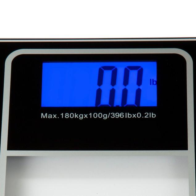 Bluestone Digital Glass Bathroom Scale with LCD Display - Black