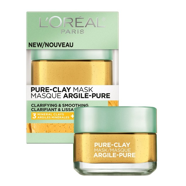 L'Oréal Paris Skincare Pure-Clay Face Mask w/ Yuzu Lemon, 1.7 oz