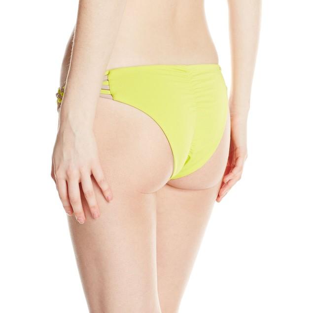 O'Neill Women's Surf Bazaar Braided Bikini Bottom, Lime/Lime, SIZE MED