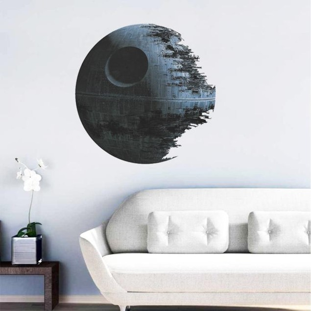 Death Star ARTWORK Star Wars Home Decor Wall Sticker Wallpaper Wall Decals
