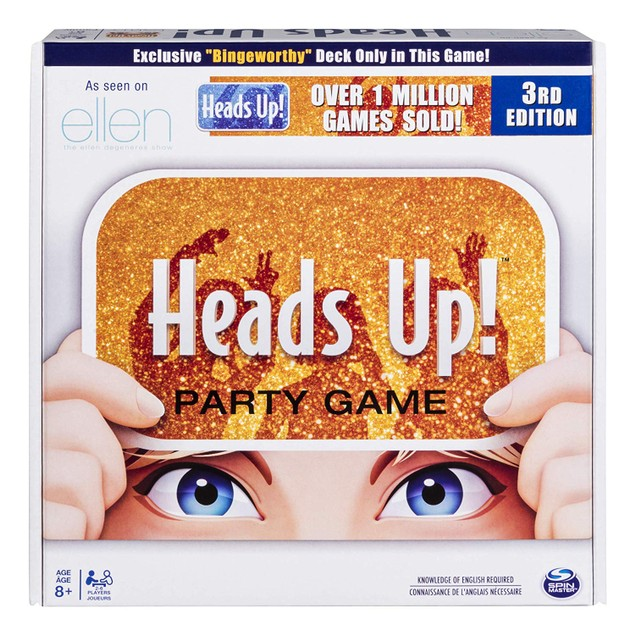 Heads Up! Party Game 3rd Edition, Fun Word Guessing Game, Gold