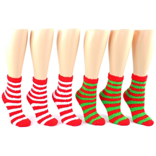 24-Hour SALE: 6 Pairs of Fuzzy Holiday Socks