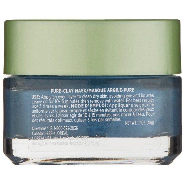 L'Oréal Paris Skincare Pure-Clay Face Mask with Seaweed