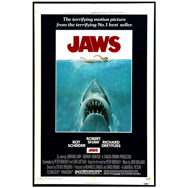 Jaws One Sheet Poster