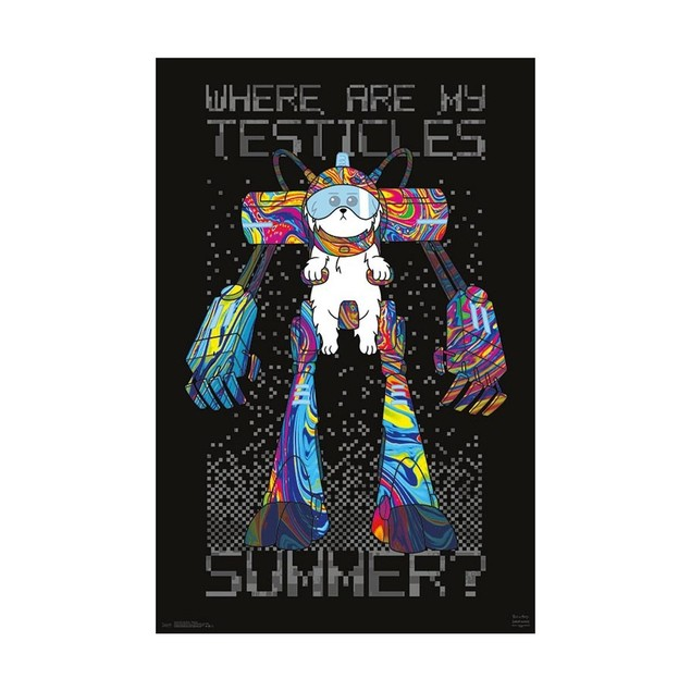 Rick and Morty Testicles Wall Poster
