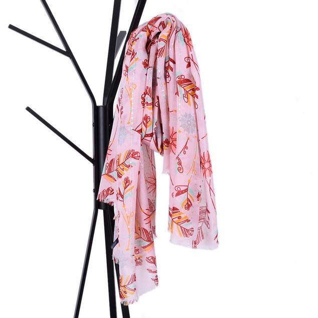 Women Sequin Leaves Print Women's Shawl Pashmina Stole Scarf Scarves