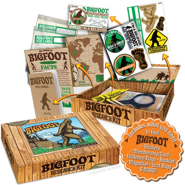 Bigfoot Research Kit Sasquatch Yeti Funny Gift Gag Novelty Search Big Foot