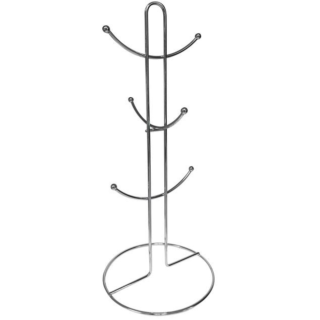 Cup/Mug Rack Holder-Chrome Metal-Holds 6 Mugs or 50 bracelets/Necklaces