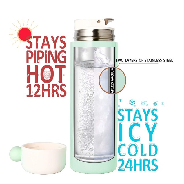 2-Pack Vacuum Insulated Stainless Steel Water Bottle