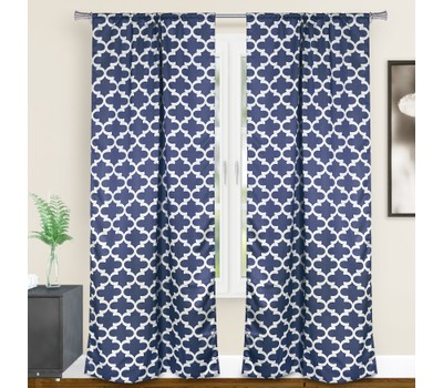 Duck River Textile Geometric Blackout Curtains - Assorted Colors Was: $59.99 Now: $24.99.