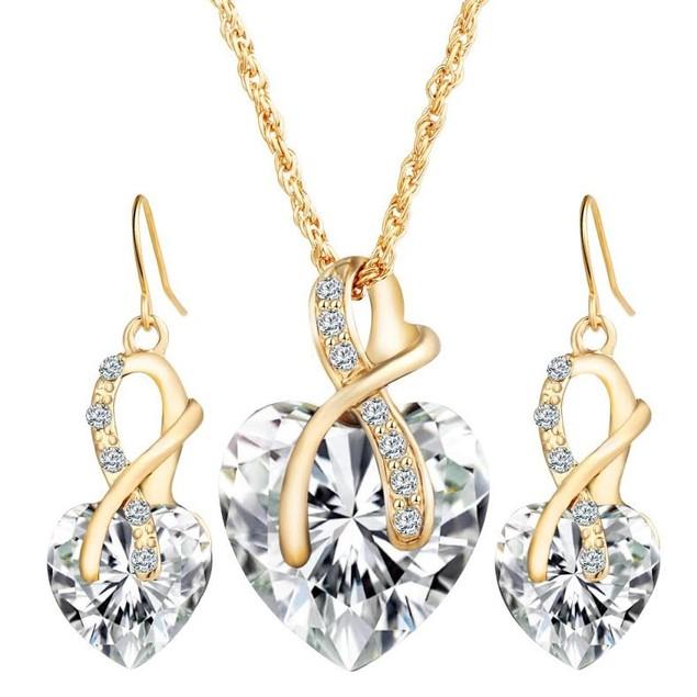 Ribbon Heart Jewelry Set