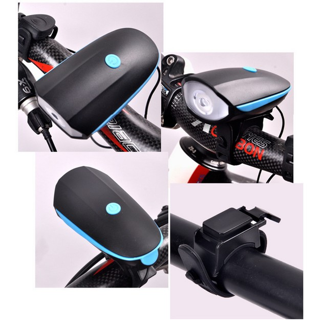 Bike Speaker USB Rechargeable Cycling Bicycle Light Riding Horns Bell