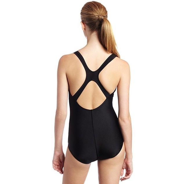 Speedo Women's Aquatic Moderate Ultraback Swimsuit, Black,  SZ 14