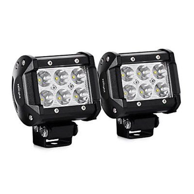 Nilight 2PCS 18W 1260lm Spot Driving Fog Light Led